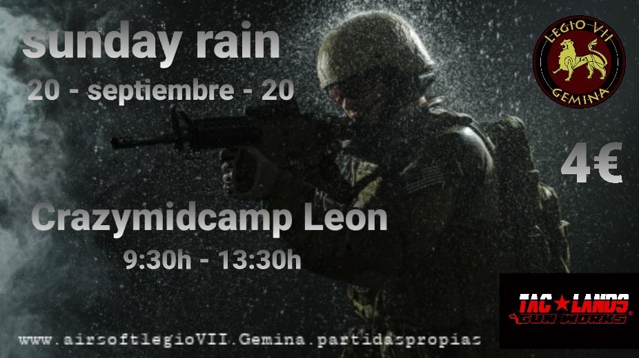 Sunday rain 20 09 2020 Crazymidcamp León 20200911