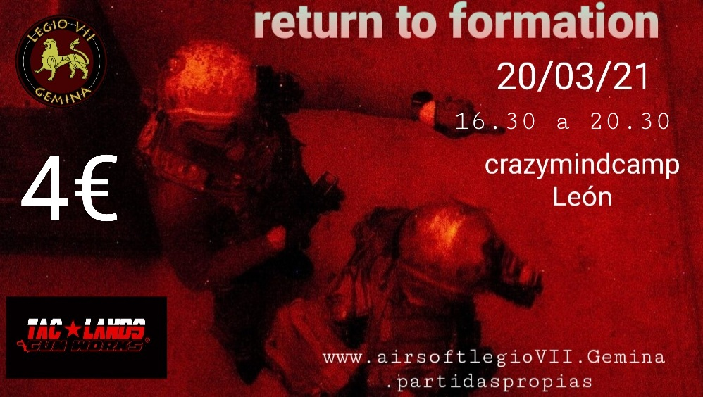 Return to formation  20/03/2021 tarde Smarts16