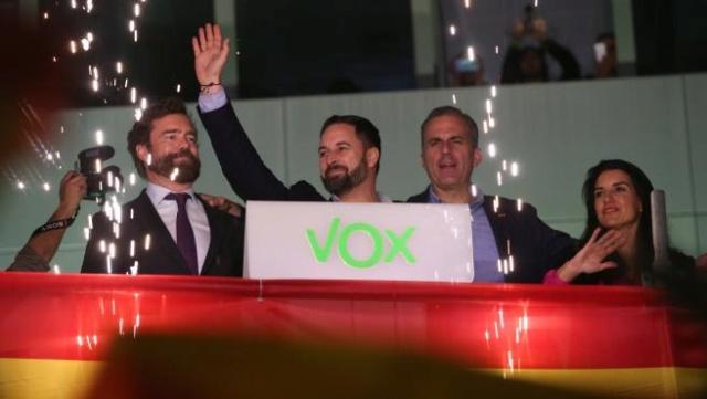 """[VOX] Santiago Abascal """"No se puede levantar un cordón sanitario a más de dos millones de españoles"""" Sede-d10"""