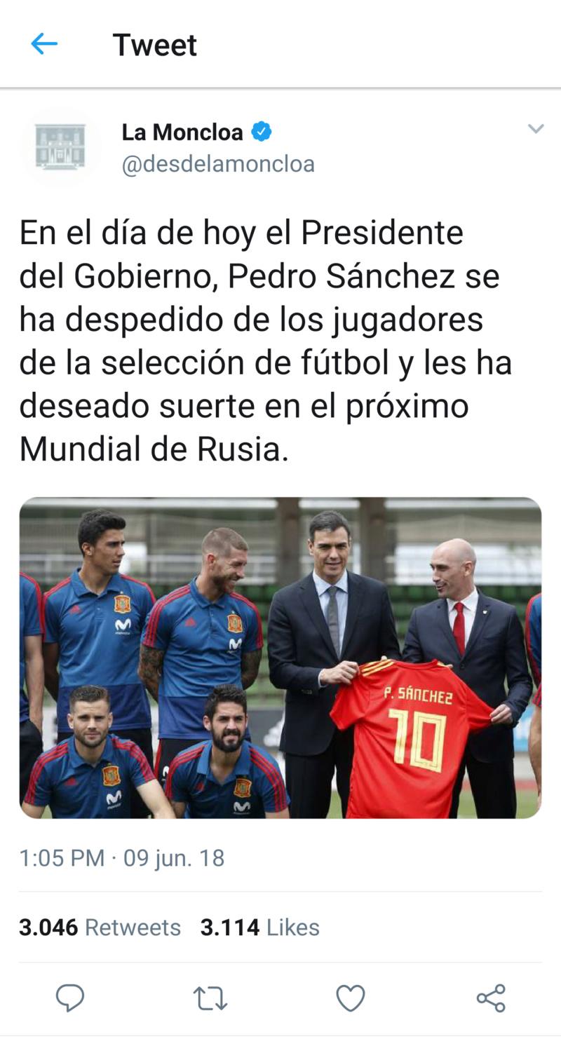 @desdelamoncloa | Twitter oficial del Gobierno de España T_120710