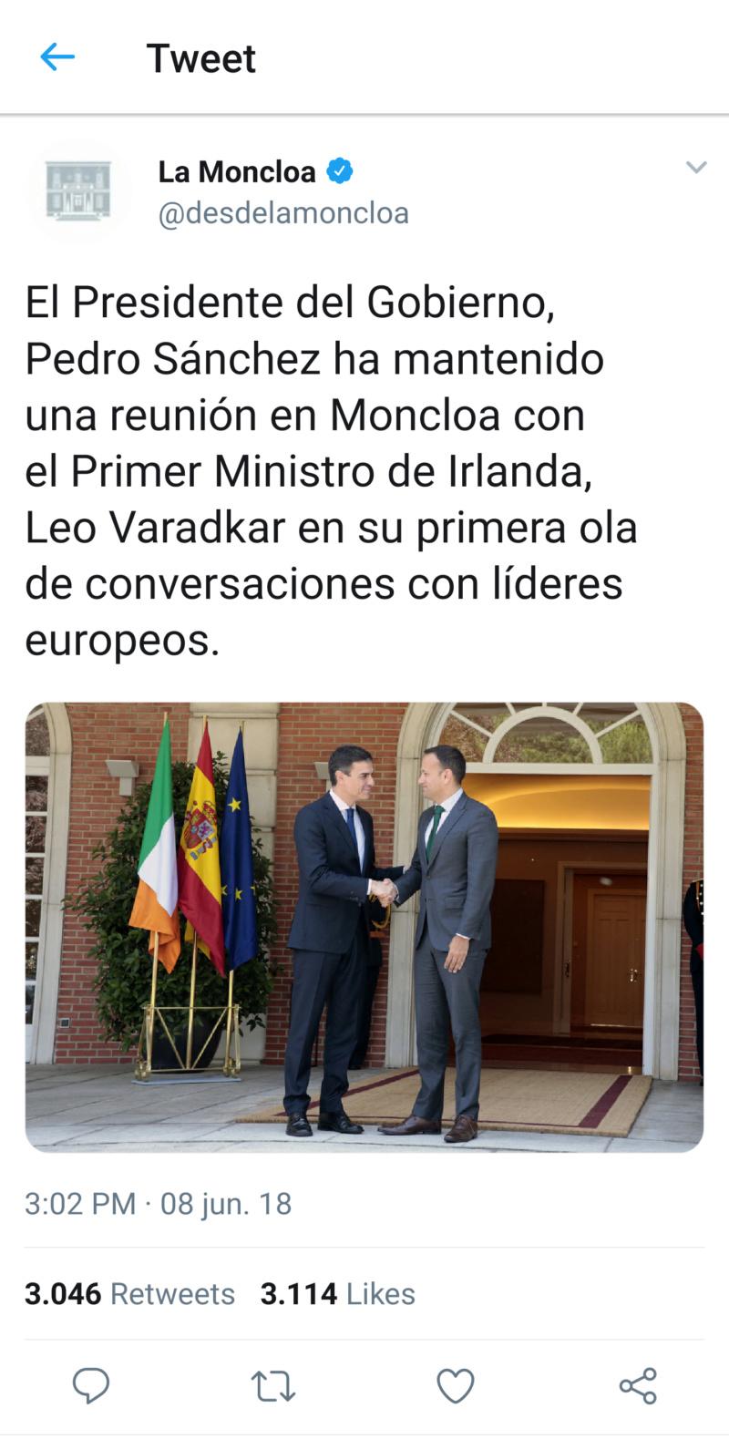 @desdelamoncloa | Twitter oficial del Gobierno de España T_120711