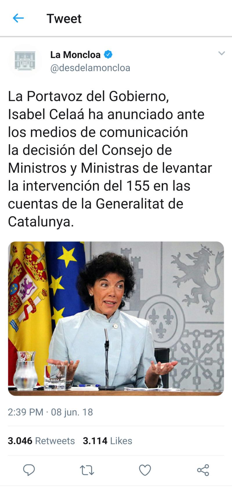 @desdelamoncloa | Twitter oficial del Gobierno de España T_120712