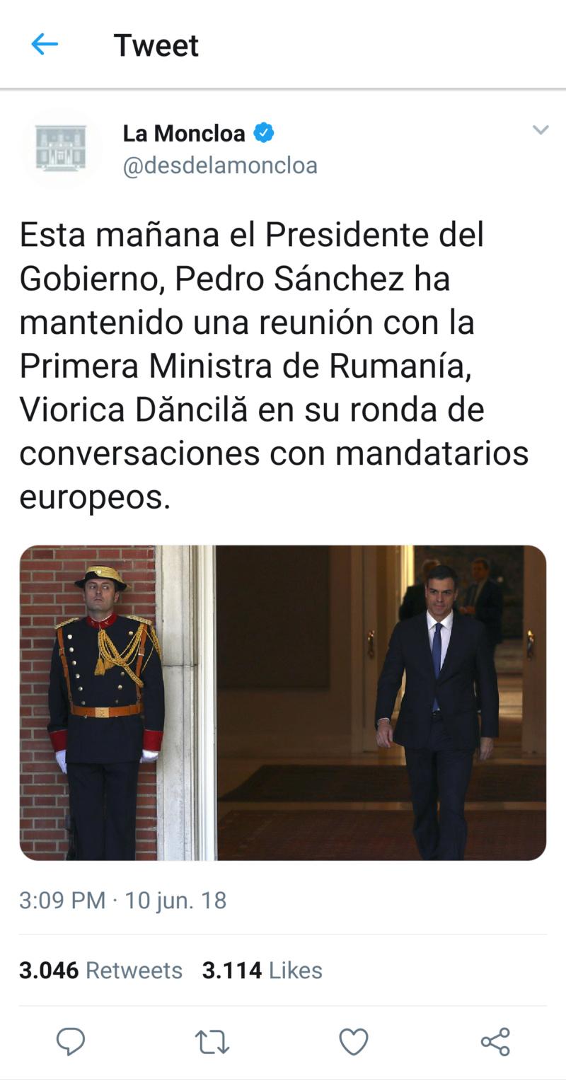 @desdelamoncloa | Twitter oficial del Gobierno de España T_120713