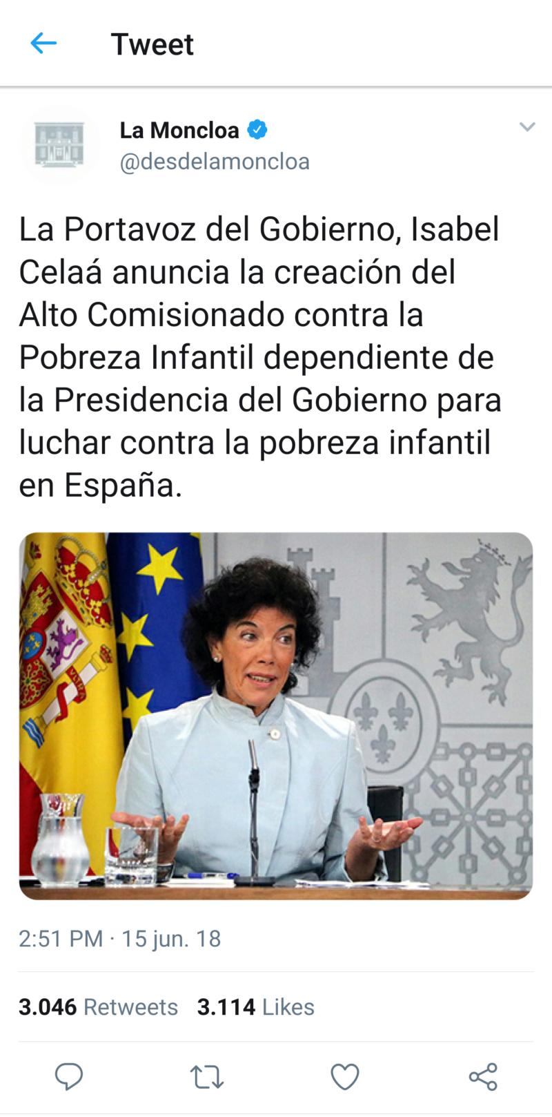 @desdelamoncloa | Twitter oficial del Gobierno de España T_120714