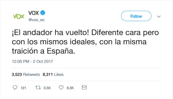 VOX | Redes Sociales Tweet10