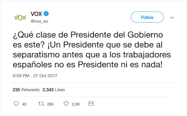 VOX | Redes Sociales Tweet15