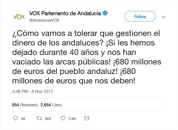 VOX | Redes Sociales Tweet23
