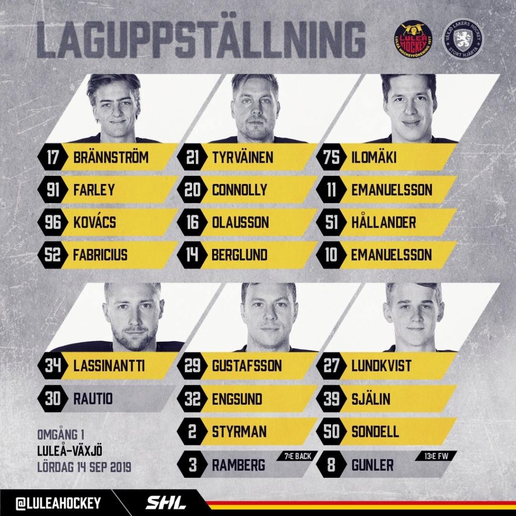 2019-09-14, SHL-match 1, Luleå - Växjö Lulezi10