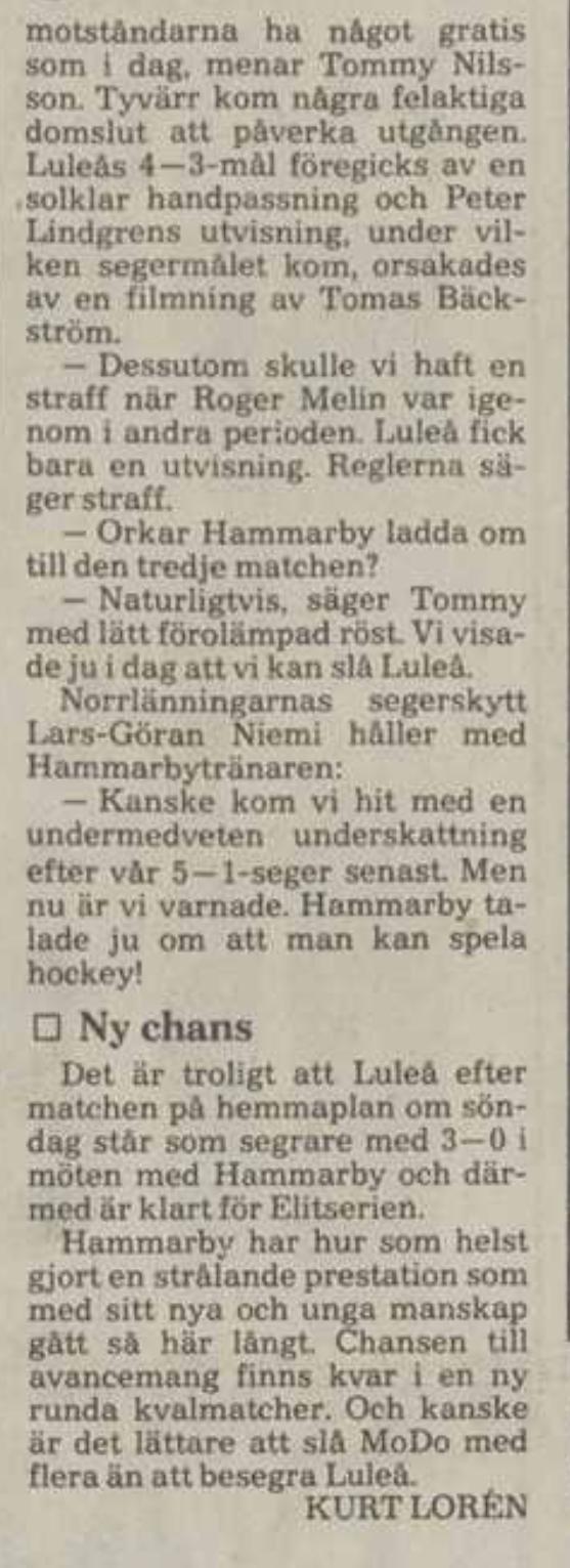 Minnesvärda Luleå Hockey stunder - Sida 2 2115f310