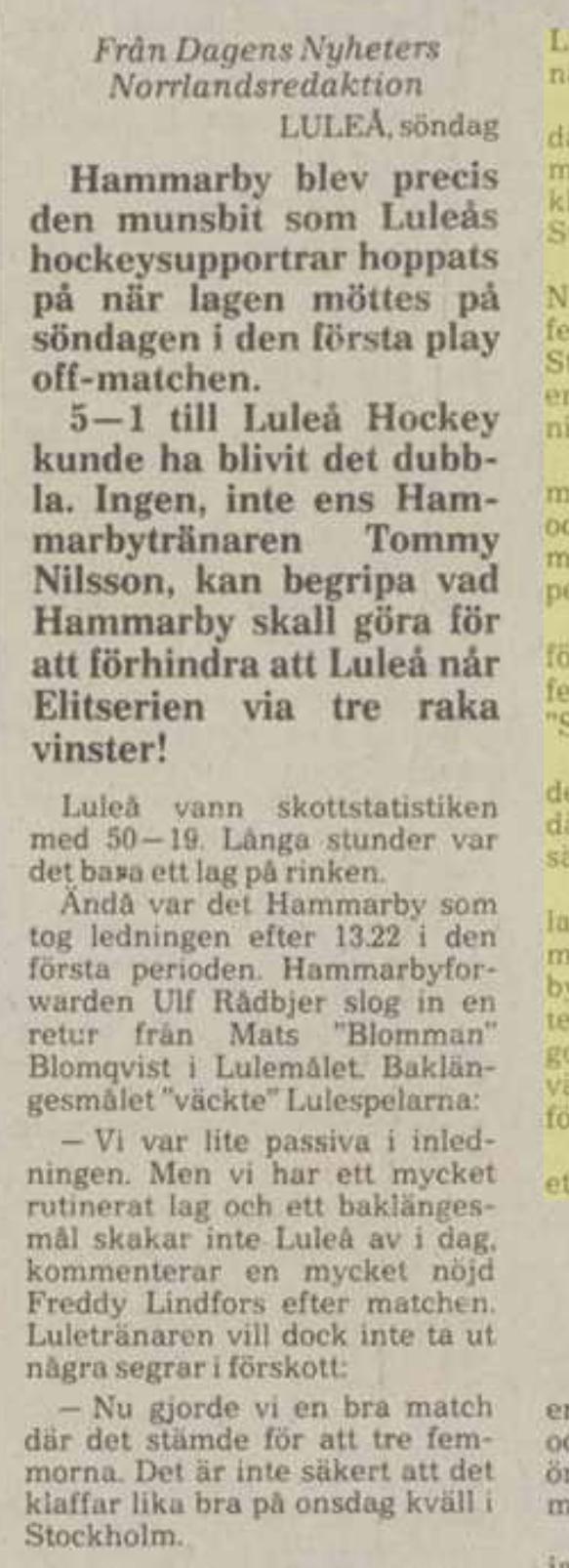 Minnesvärda Luleå Hockey stunder - Sida 2 6200db10
