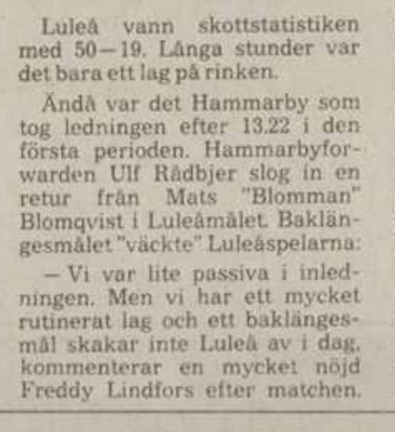 Minnesvärda Luleå Hockey stunder - Sida 2 69881f10