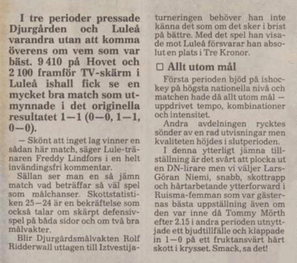 Tidningsurklipp A2ce7f10