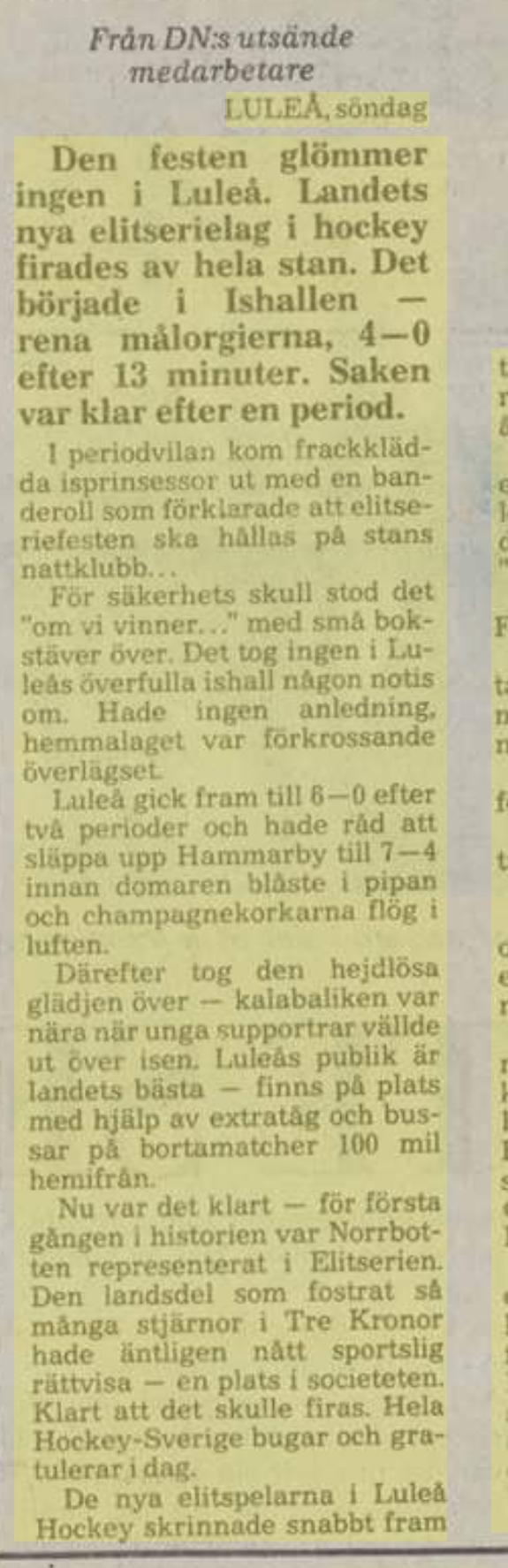 Minnesvärda Luleå Hockey stunder - Sida 2 Ecbbd310