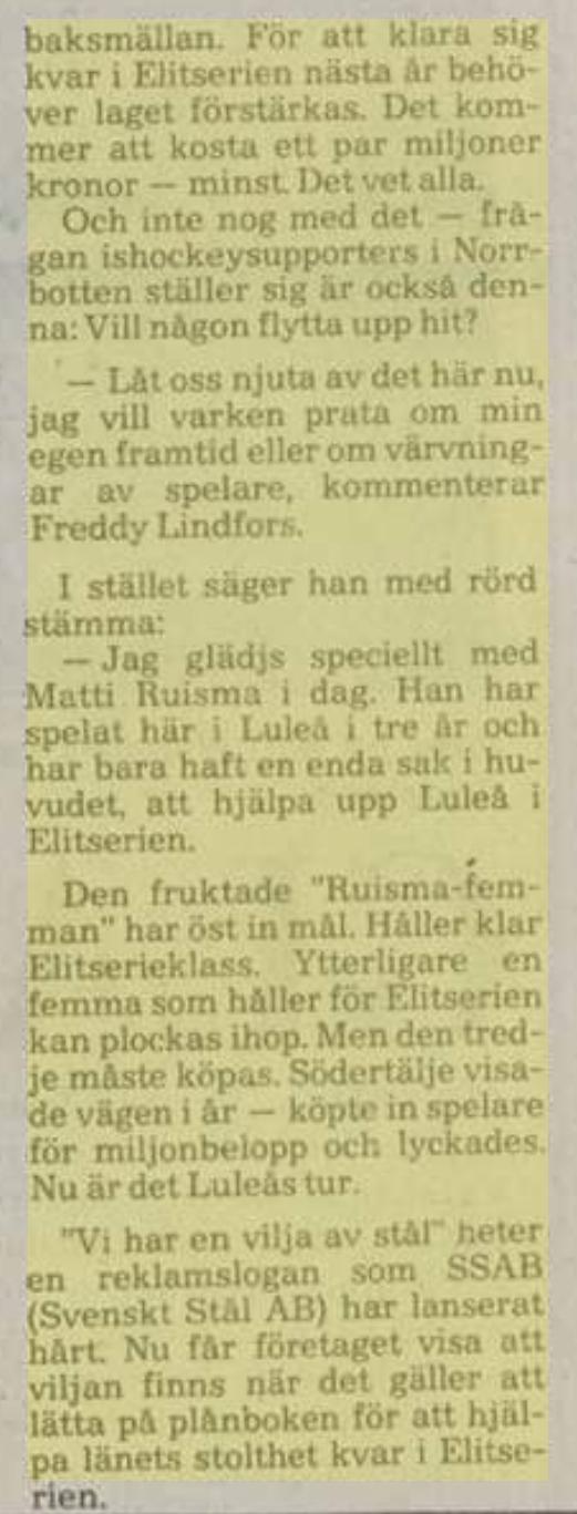 Minnesvärda Luleå Hockey stunder - Sida 2 Eef44c10