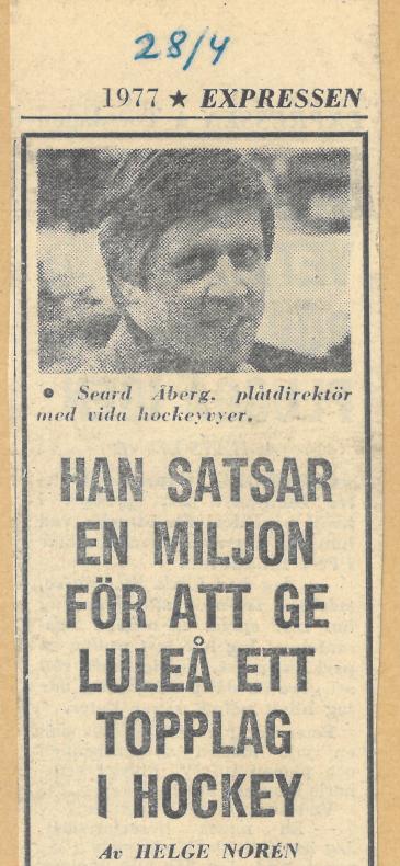 Seard Åberg - Mannen bakom Luleå Hockey Förening jubilerar Skzirm18