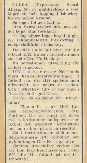 Seard Åberg - Mannen bakom Luleå Hockey Förening jubilerar Skzirm19