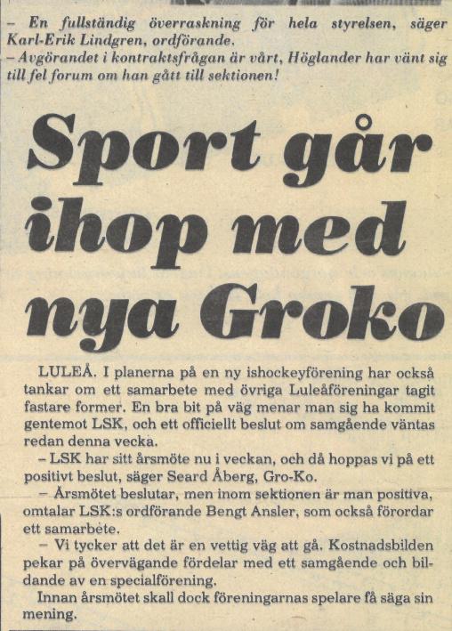 Seard Åberg - Mannen bakom Luleå Hockey Förening jubilerar Skzirm24