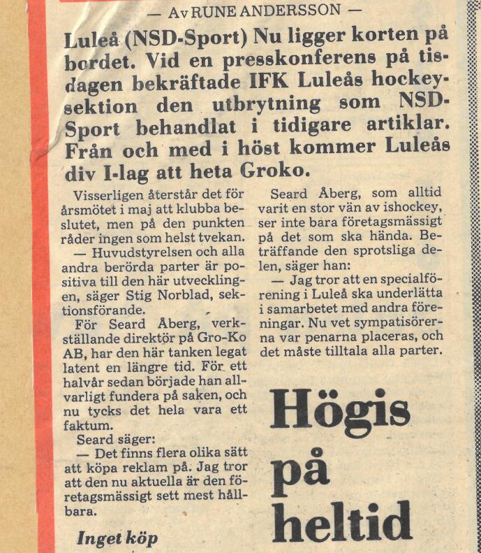 Seard Åberg - Mannen bakom Luleå Hockey Förening jubilerar Skzirm25