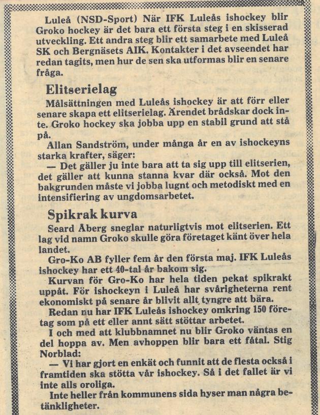 Seard Åberg - Mannen bakom Luleå Hockey Förening jubilerar Skzirm27