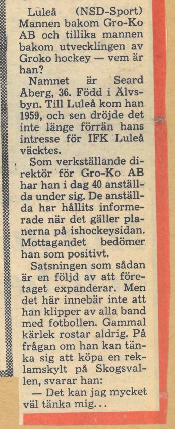 Seard Åberg - Mannen bakom Luleå Hockey Förening jubilerar Skzirm33
