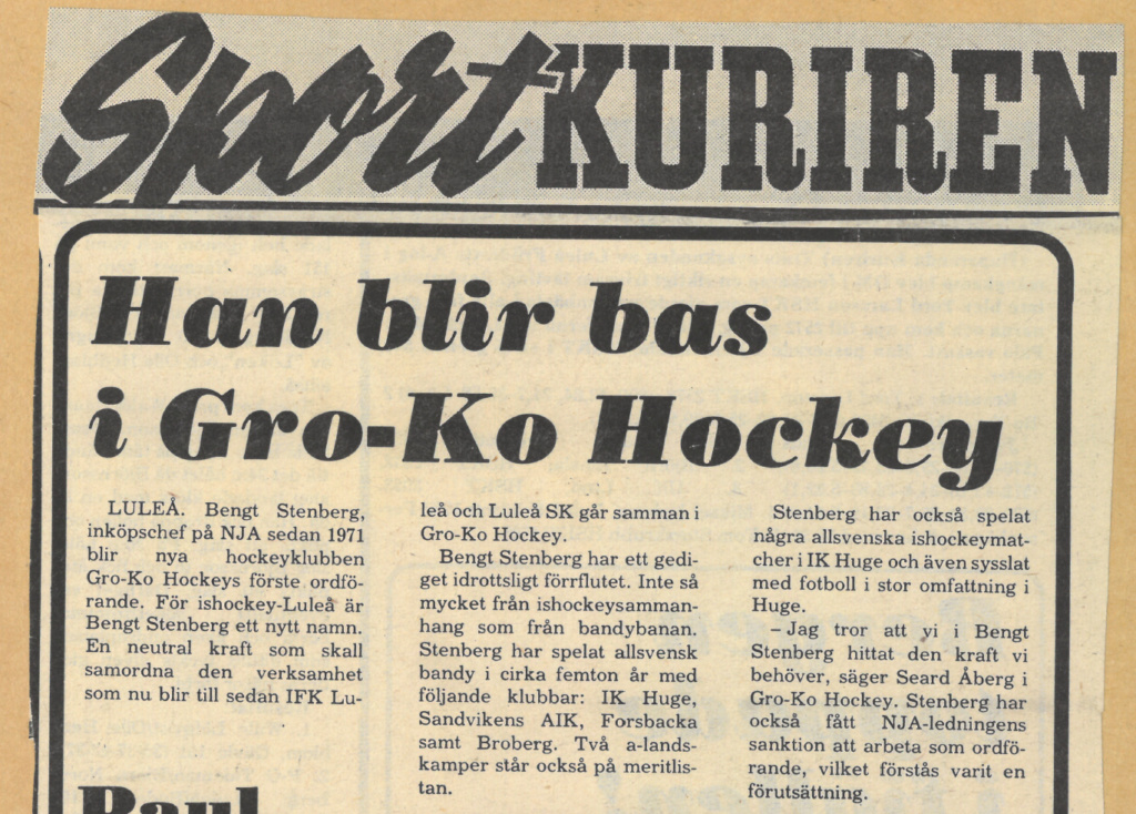 Seard Åberg - Mannen bakom Luleå Hockey Förening jubilerar Skzirm49