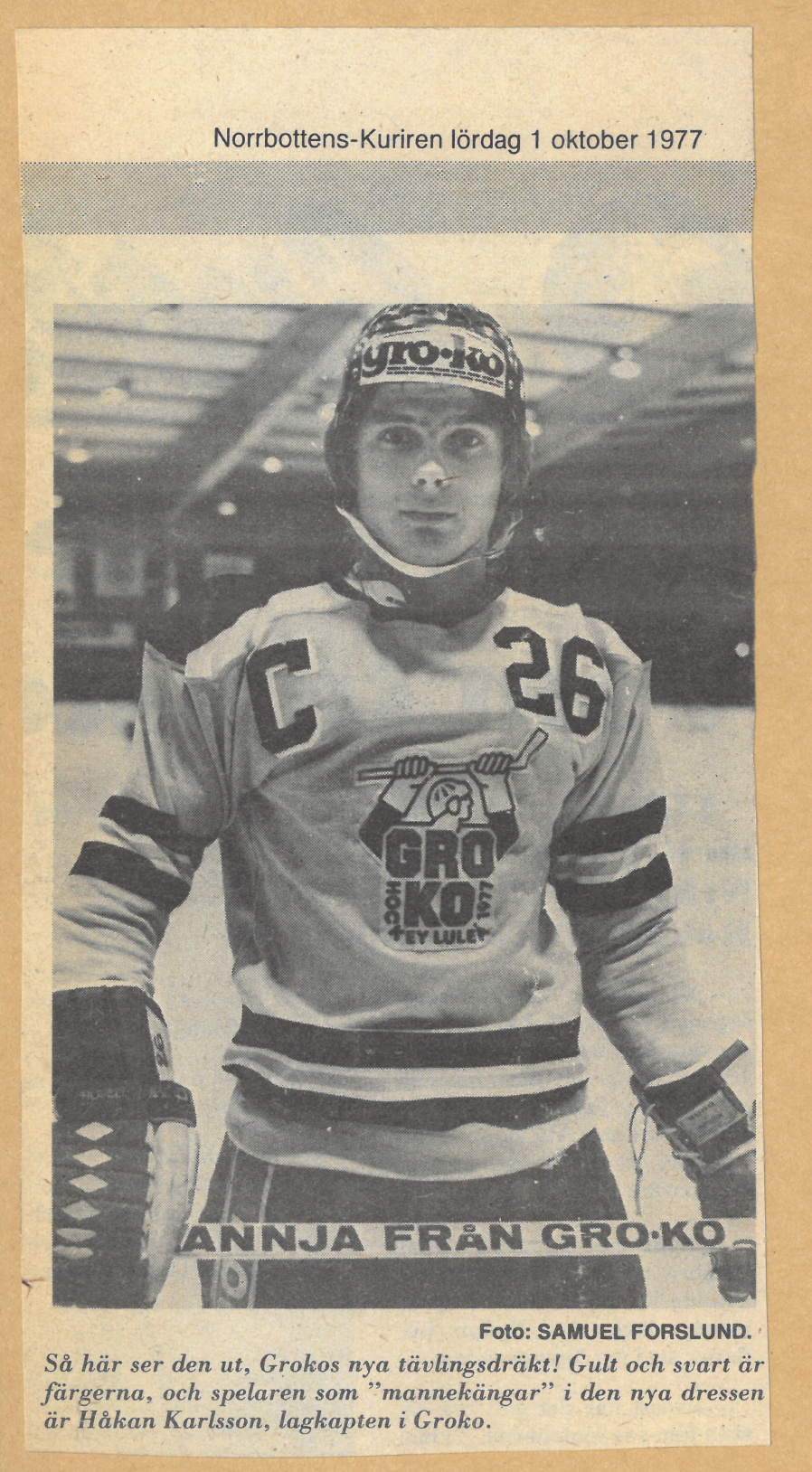 Luleå Hockeys lagkaptener Skzirm87