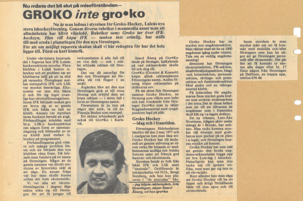Seard Åberg - Mannen bakom Luleå Hockey Förening jubilerar Skzirm98