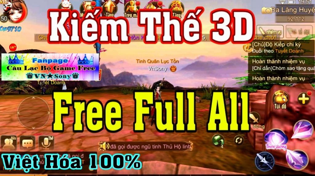[Mobile Game] Kiếm Thế 3D VH - Free Full All Rv1210