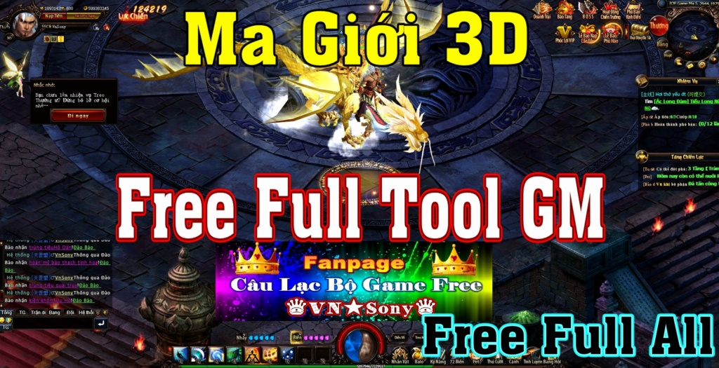 [WebGame] Ma Giới 3D VH - Free Full Tool GM Rv17