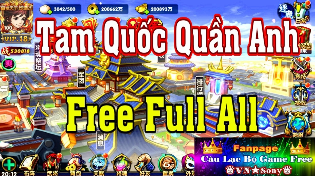[MobileGame] Tam Quốc Quần Anh Truyện - Free Full All Rv18