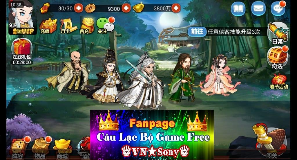 [MobileGame] Đông Tà Tây Độc Free VIP17 + Full KNB + Shop Bán 1 Vàng Rv211