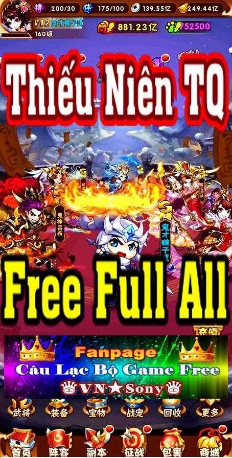 [MobileGame] Thiếu Niên Tam Quốc - Free Full All Rv217