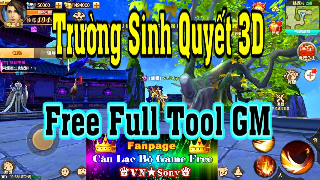 [MobileGame] Trường Sinh Quyết 3D - Free Full Tool GM Rv511