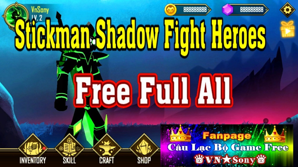 [MobileGame] Stickman Shadow Fight Heroes - Free Full All Rv512