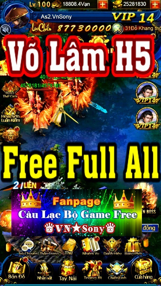[H5-Game] Võ Lâm H5 VH - Free Full All Rv513