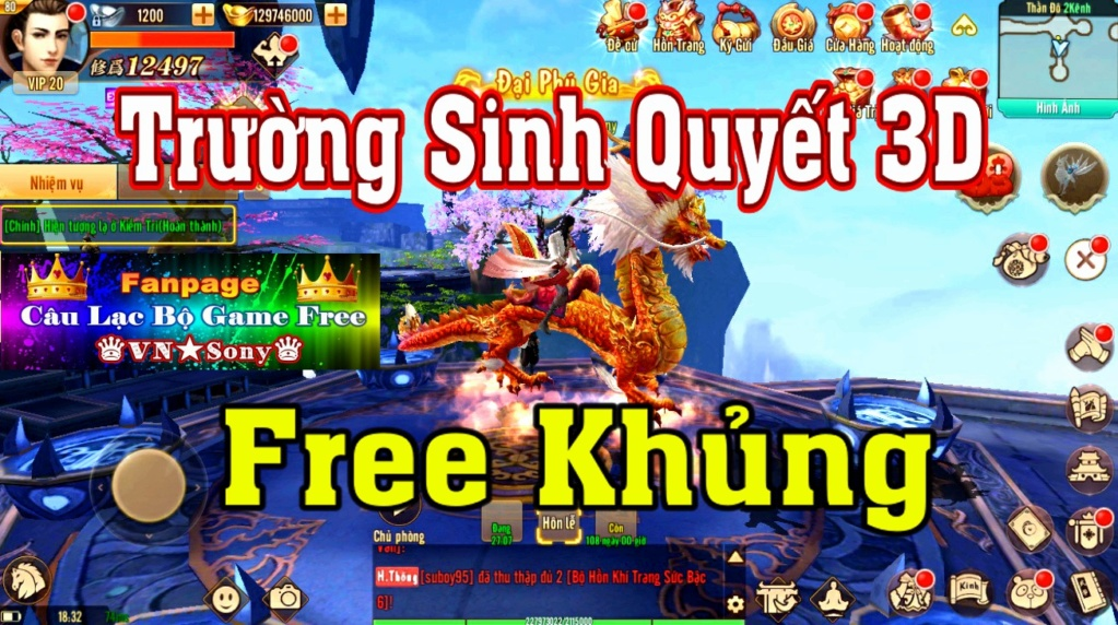 [Mobile Game] Trường Sinh Quyết 3D VH - Free Full All Rv514