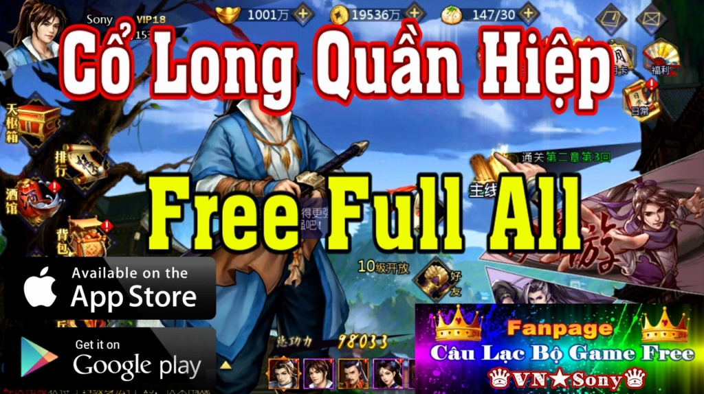 [MobileGame] Cổ Long Quần Hiệp Truyện - Free Full All Rv716