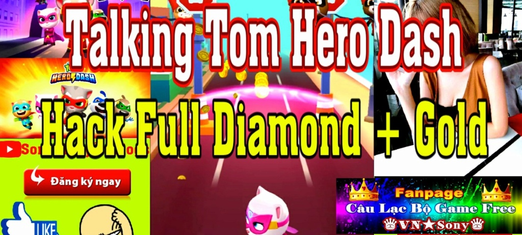 [MobileOffline] Talking Tom Hero Dash - Hack Mod Full Rv812
