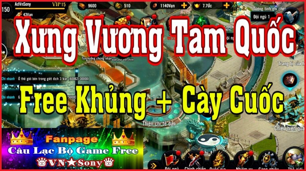 [Mobile Game] Xưng Vương Tam Quốc VH - Free Full All Rv913