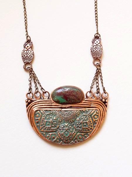 Pendentif bronze rose Dsc01112