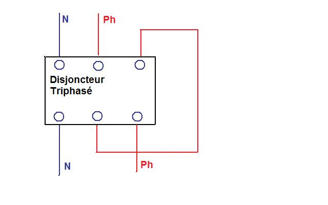 Disjoncteur tétrapolaire en monophasé Disj_t11