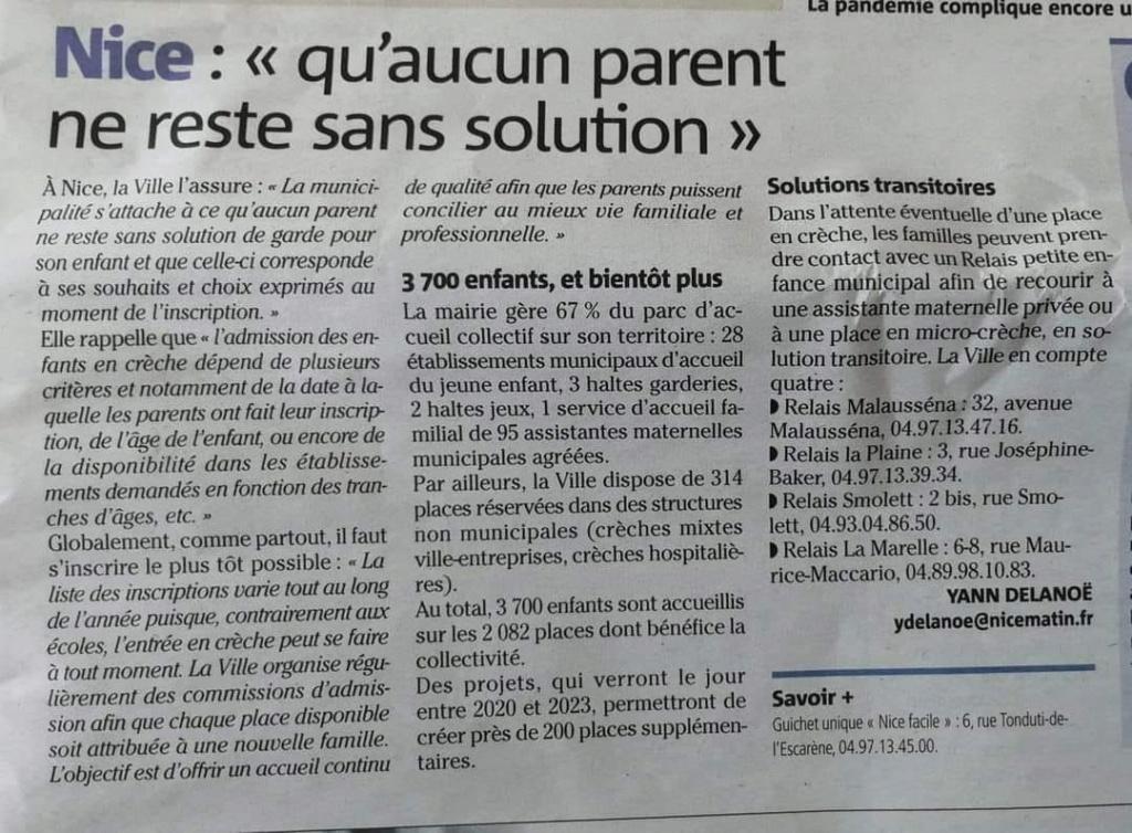 consideration des assistantes maternelles  de la ville de Nice  Articl10