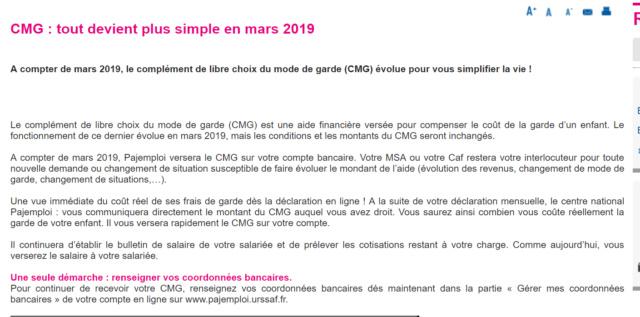 LE COMPLEMENT DE LIBRE CHOIX DU MODE DE GARDE. du nouveau en 2019 Cmg_bi10