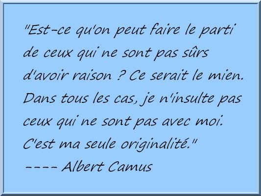 Ou le retour de .... Camus11