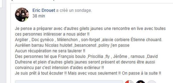 Communiqué de Drouet Drouet13