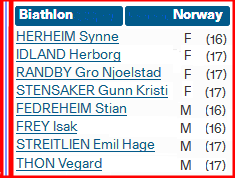 Норвежская сборная 2105