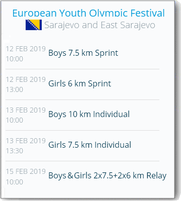 European Olympic Youth Festival 2019 O14