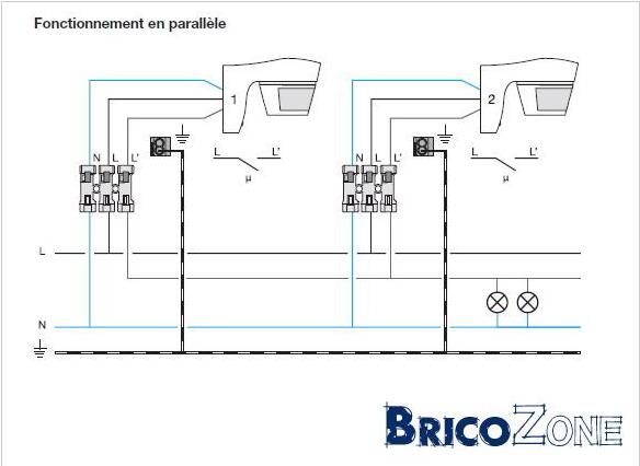 branchement aérateur couplé à deux circuits lumineux Screen11