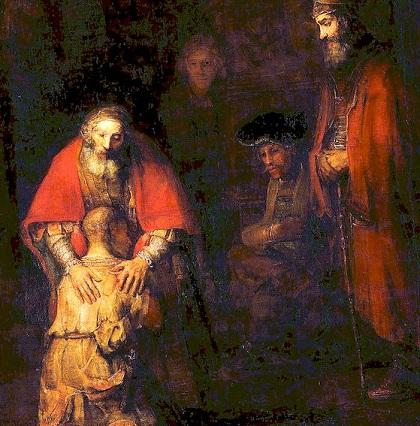 Luther: Mannaa Jumalan lapsille/Poikani, ole turvallisella mielellä; sinun syntisi annetaan sinulle anteeksi. Rembra10