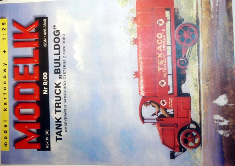 """Fertig Tank Truck """"Bulldog"""" von Modelik verkleinert auf 1:33 gebaut von Kubi P1016522"""